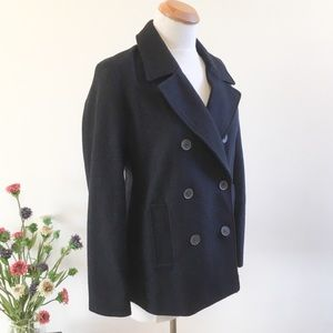 🎉CLEAROUT 🎉 NWT Old Navy Navy Blue Wool Pea Coat